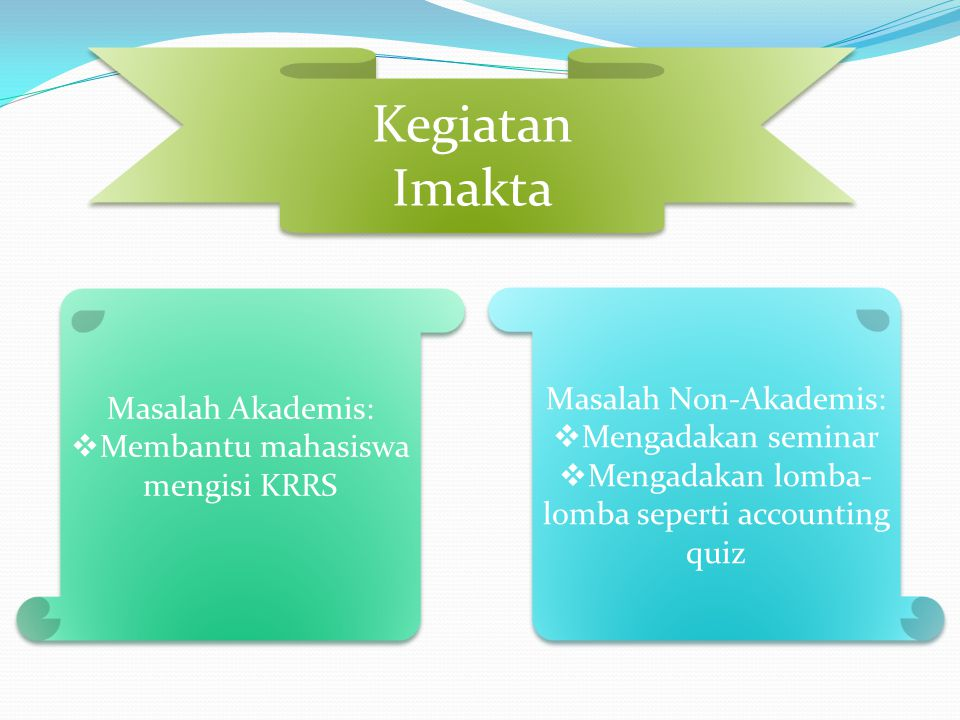 Kegiatan Imakta Masalah Non-Akademis: Masalah Akademis: