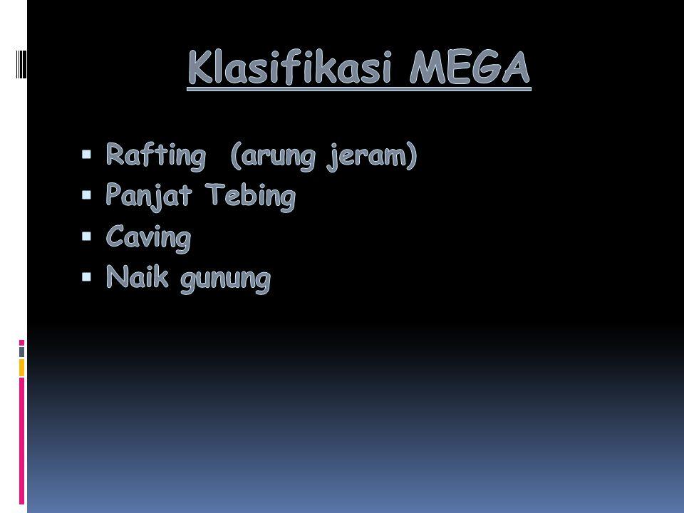 Klasifikasi MEGA Rafting (arung jeram) Panjat Tebing Caving