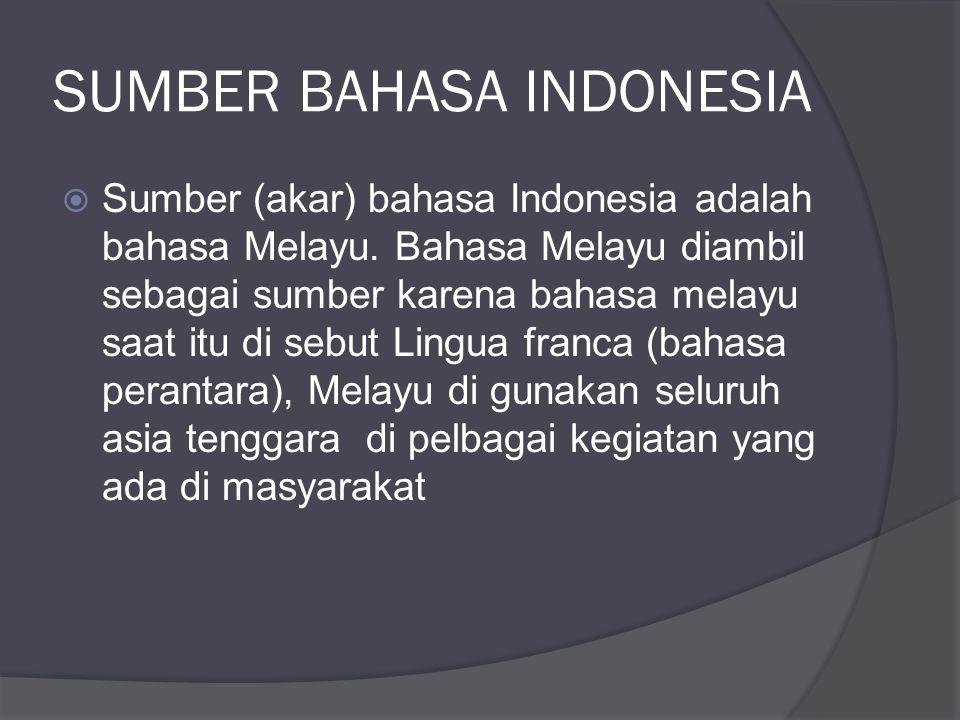 SUMBER BAHASA INDONESIA