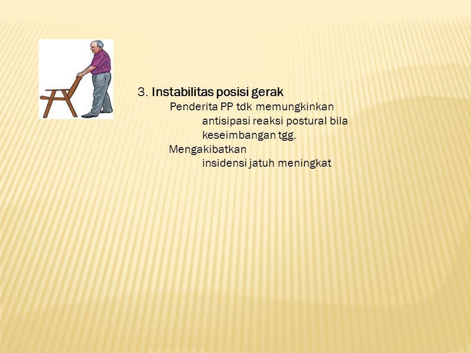 3. Instabilitas posisi gerak