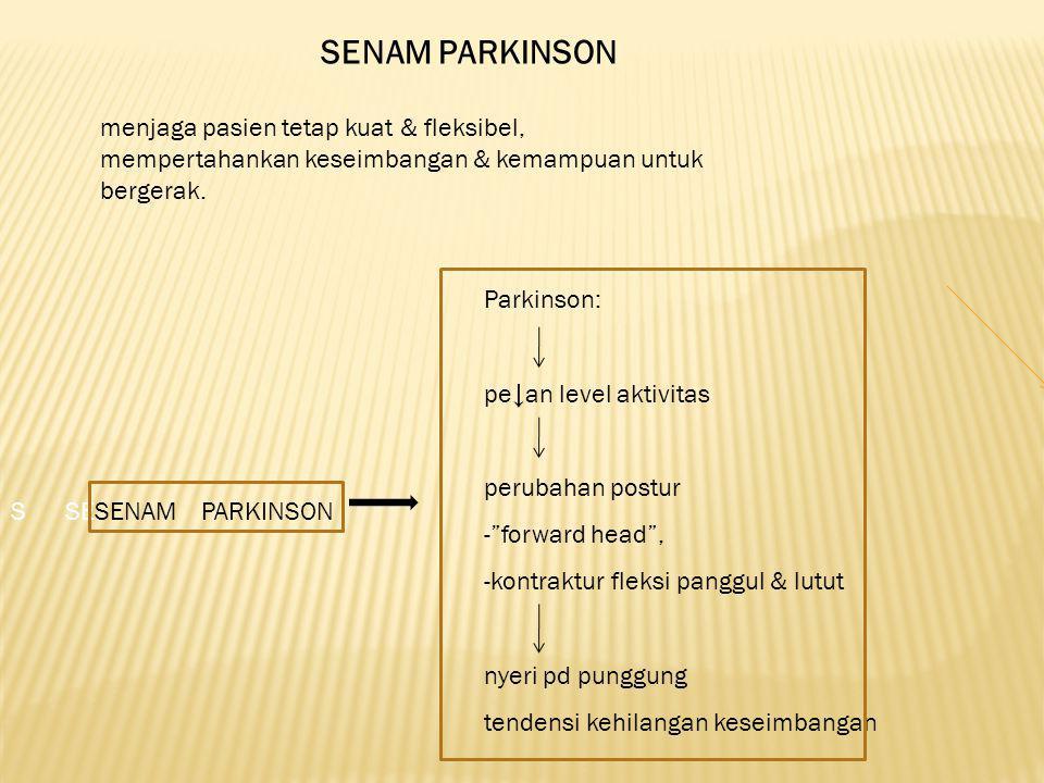 SENAM PARKINSON menjaga pasien tetap kuat & fleksibel,