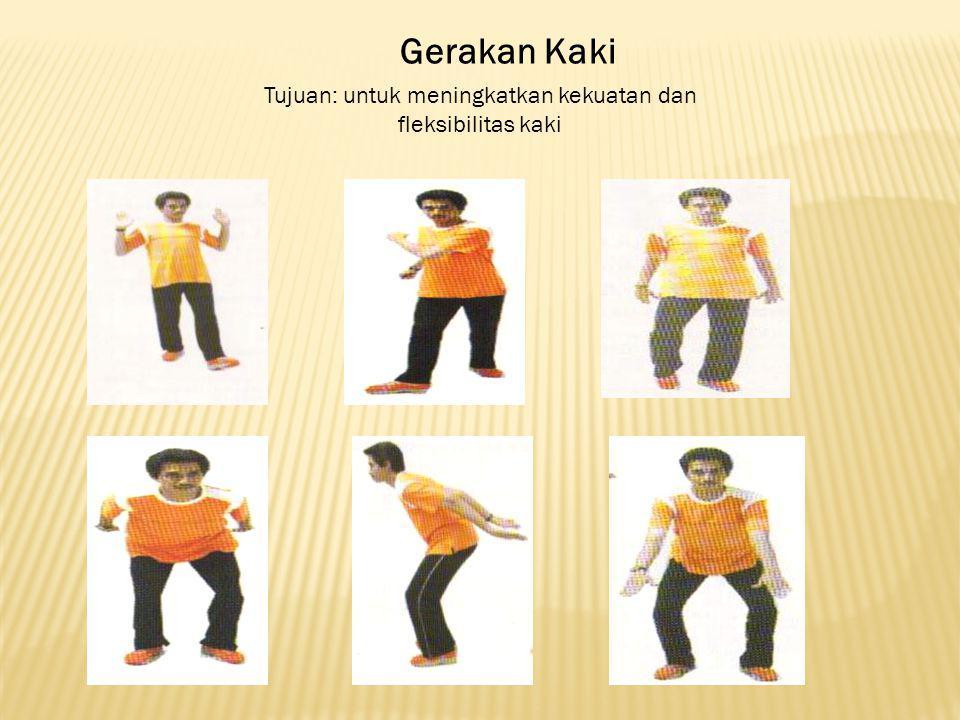 Tujuan: untuk meningkatkan kekuatan dan fleksibilitas kaki