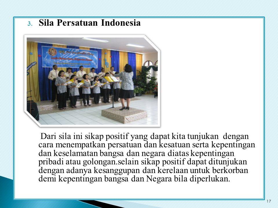 Sila Persatuan Indonesia