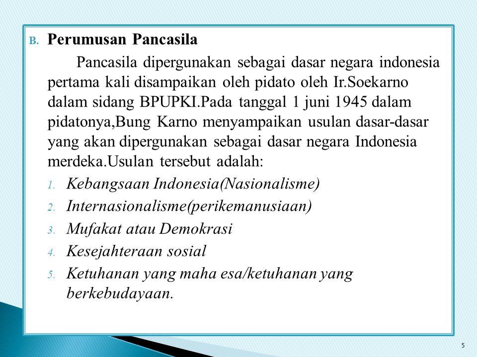 Perumusan Pancasila