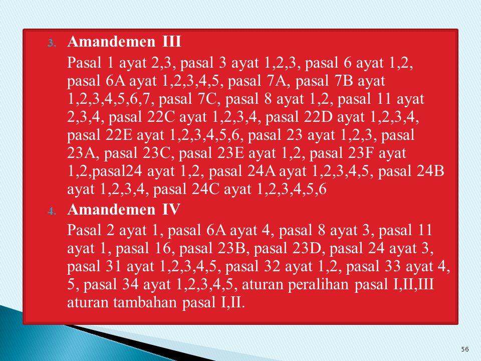 Amandemen III