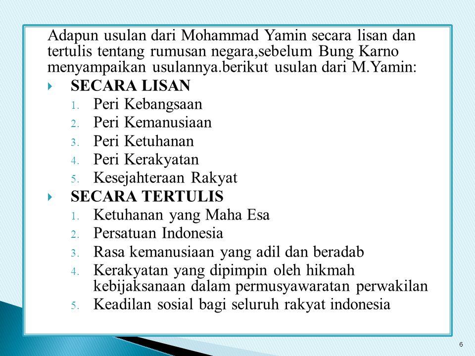 Ketuhanan yang Maha Esa Persatuan Indonesia