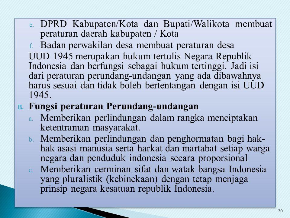 DPRD Kabupaten/Kota dan Bupati/Walikota membuat peraturan daerah kabupaten / Kota