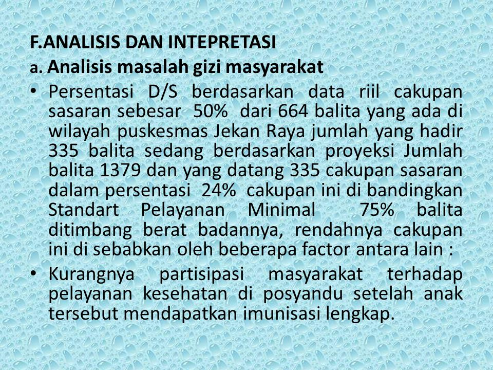 F.ANALISIS DAN INTEPRETASI