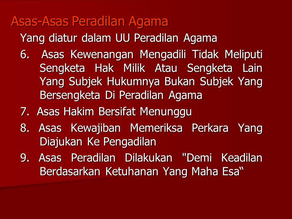 Asas-Asas Peradilan Agama