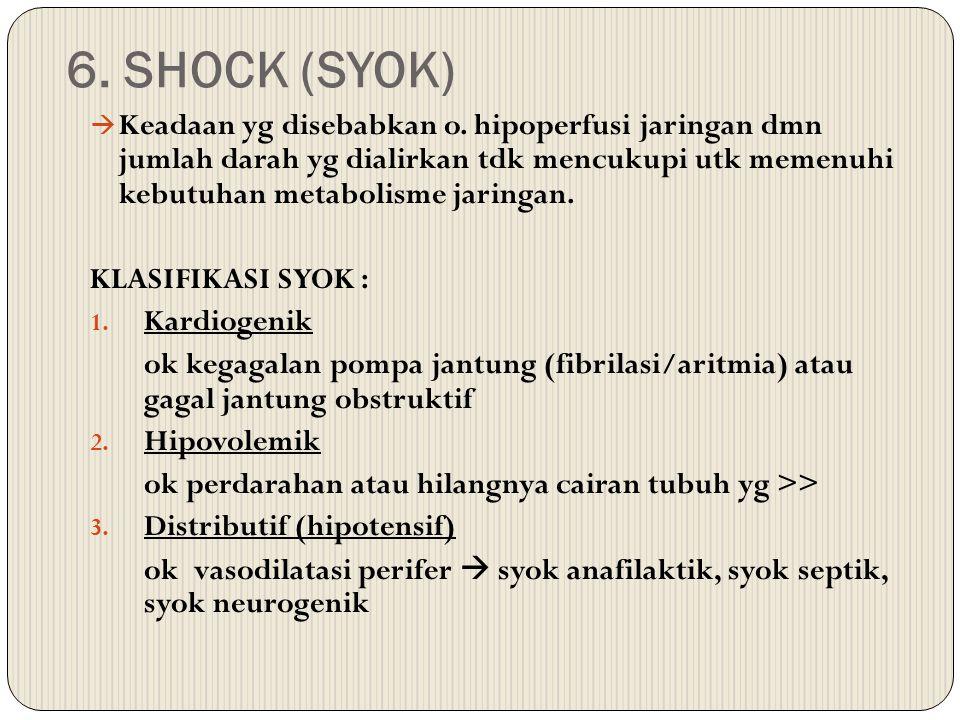6. SHOCK (SYOK)