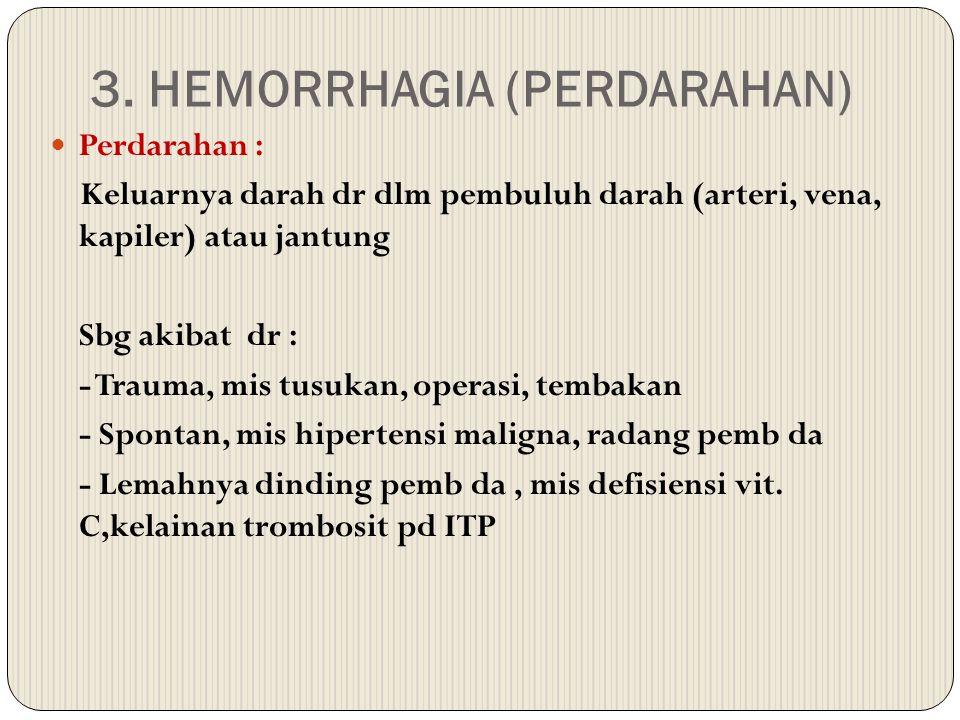 3. HEMORRHAGIA (PERDARAHAN)