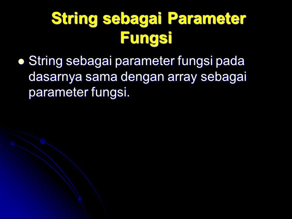 String sebagai Parameter Fungsi