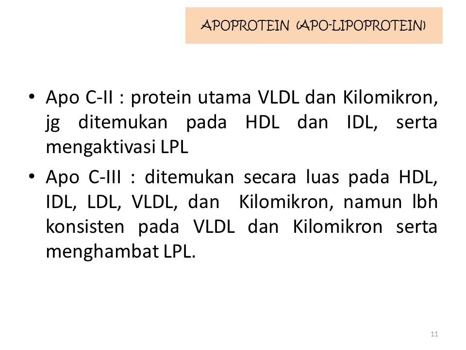APOPROTEIN (APO-LIPOPROTEIN)
