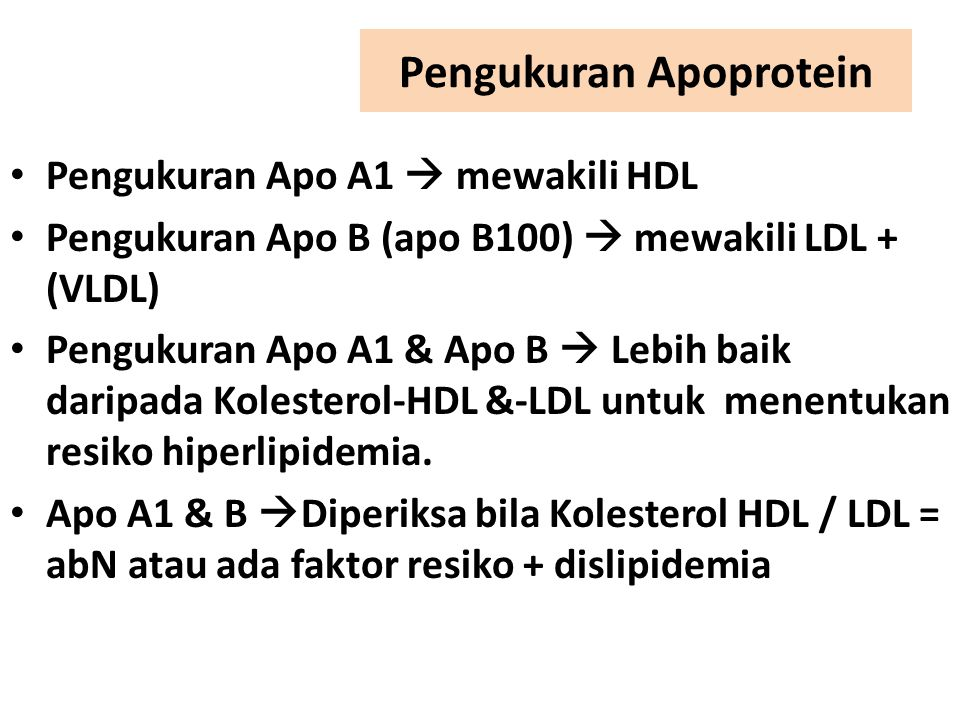 Pengukuran Apoprotein