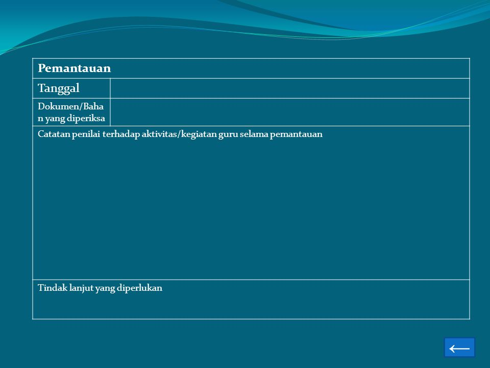 ← Pemantauan Tanggal Dokumen/Bahan yang diperiksa