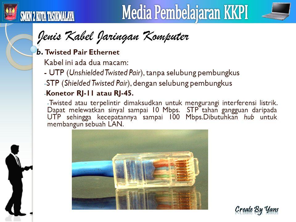 Jenis Kabel Jaringan Komputer