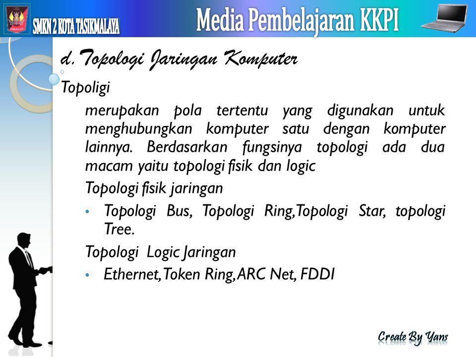 d.Topologi Jaringan Komputer