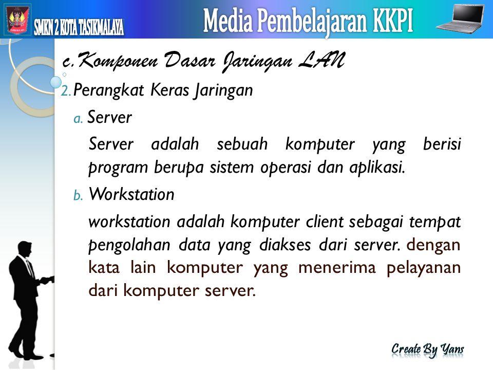 c.Komponen Dasar Jaringan LAN