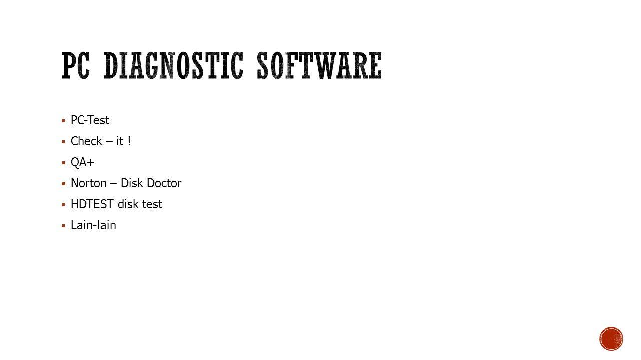 PC Diagnostic Software
