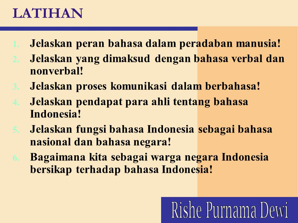 LATIHAN Rishe Purnama Dewi