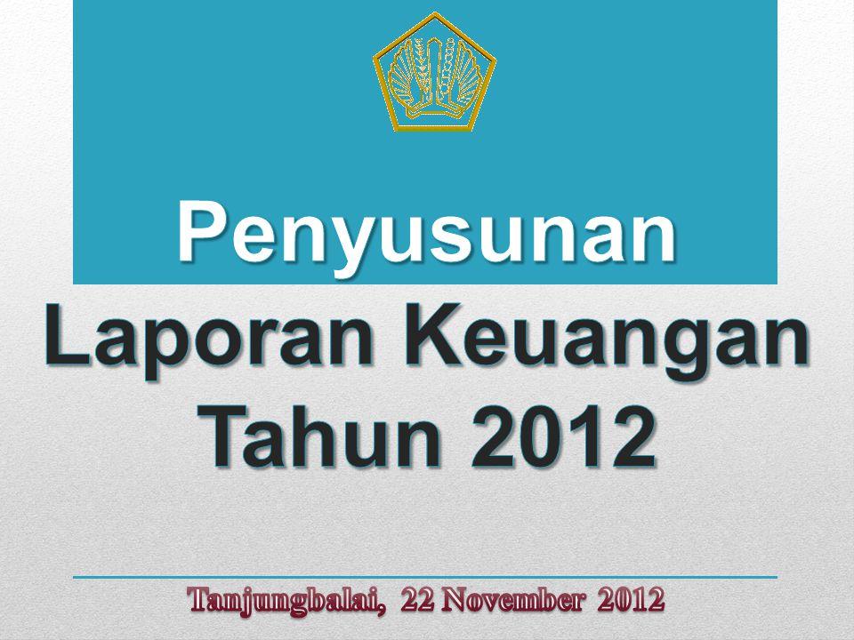 Penyusunan Laporan Keuangan Tahun 2012