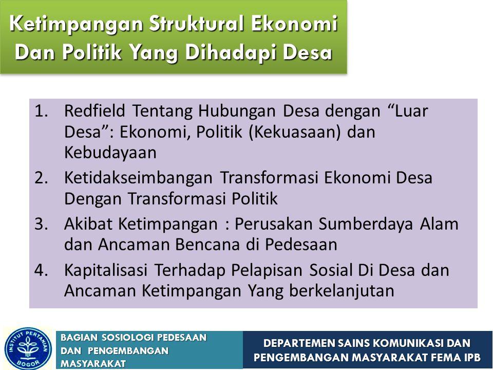 Ketimpangan Struktural Ekonomi Dan Politik Yang Dihadapi Desa