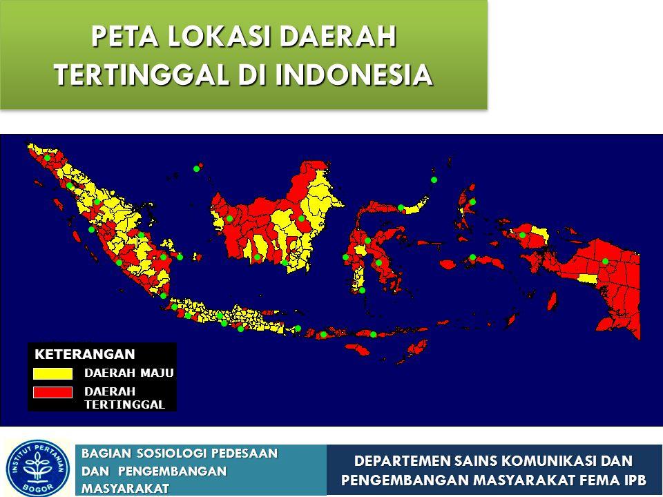 PETA LOKASI DAERAH TERTINGGAL DI INDONESIA