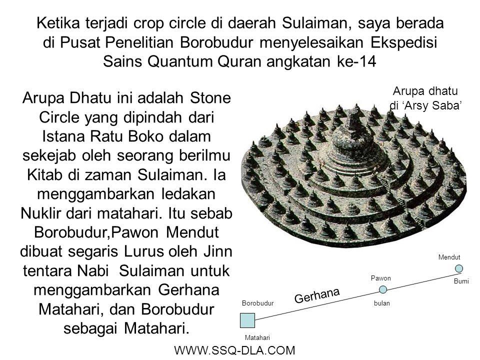 Ketika terjadi crop circle di daerah Sulaiman, saya berada di Pusat Penelitian Borobudur menyelesaikan Ekspedisi Sains Quantum Quran angkatan ke-14