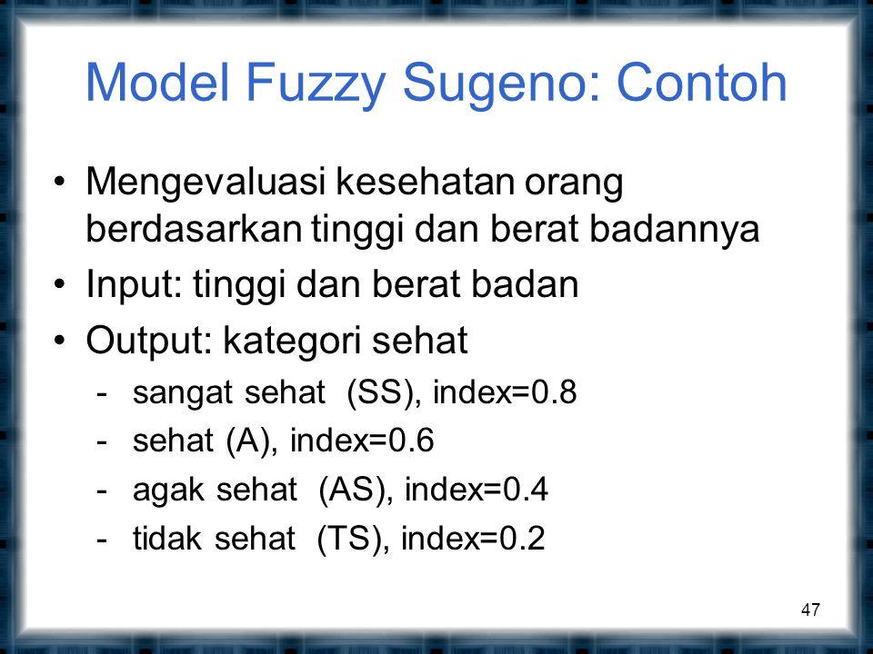 Model Fuzzy Sugeno: Contoh
