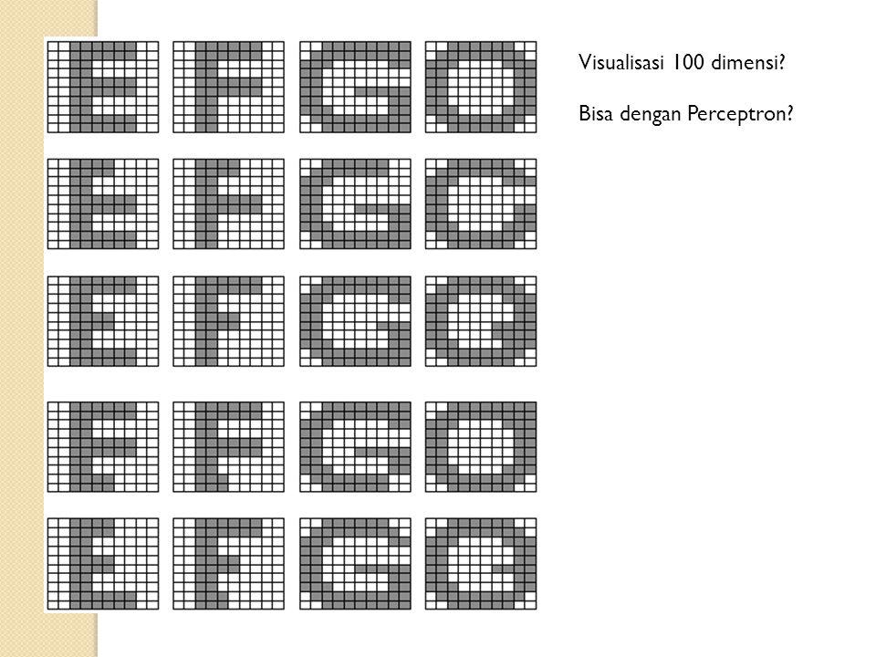 Visualisasi 100 dimensi Bisa dengan Perceptron