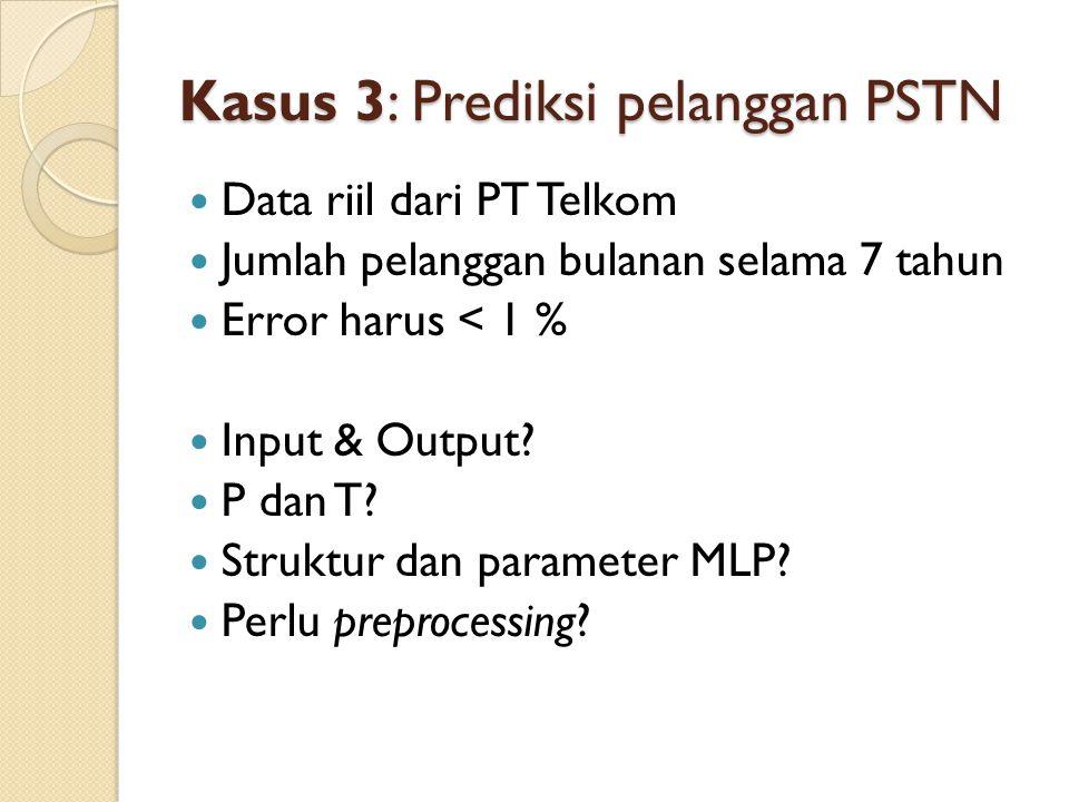 Kasus 3: Prediksi pelanggan PSTN