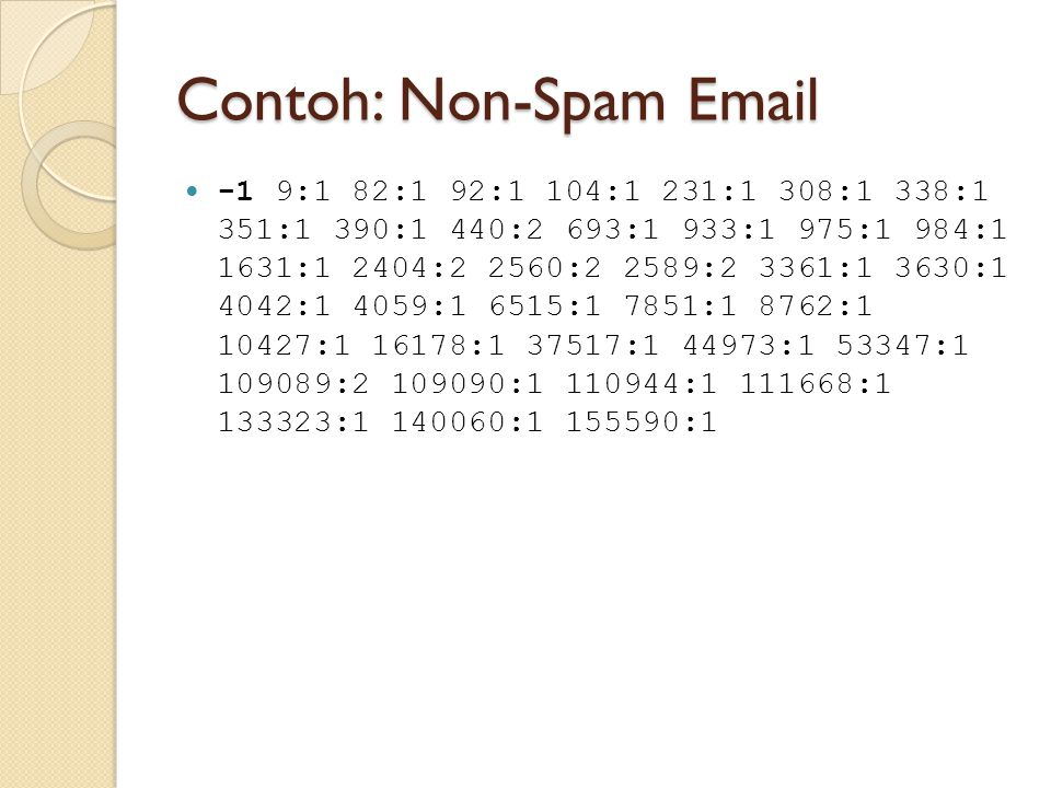 Contoh: Non-Spam Email