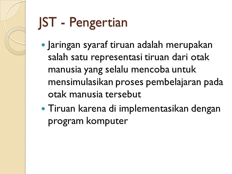 JST - Pengertian