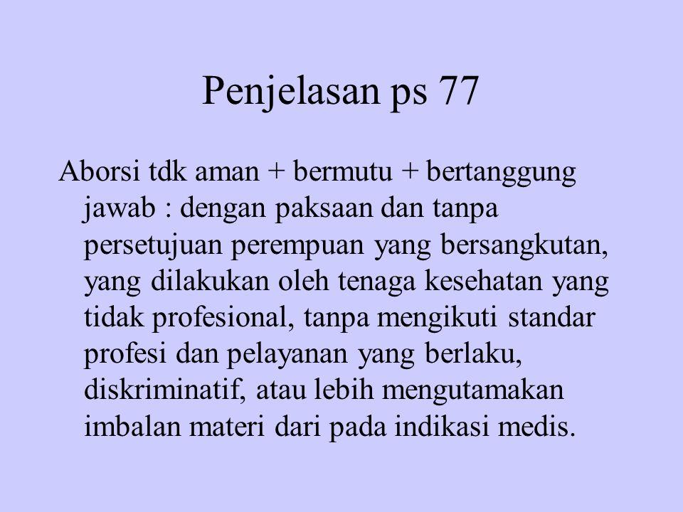Penjelasan ps 77