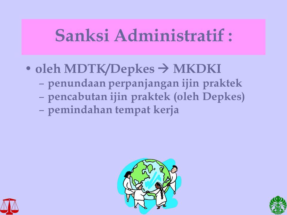 Sanksi Administratif :