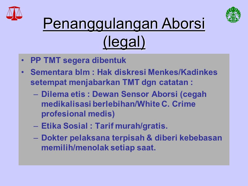 Penanggulangan Aborsi (legal)