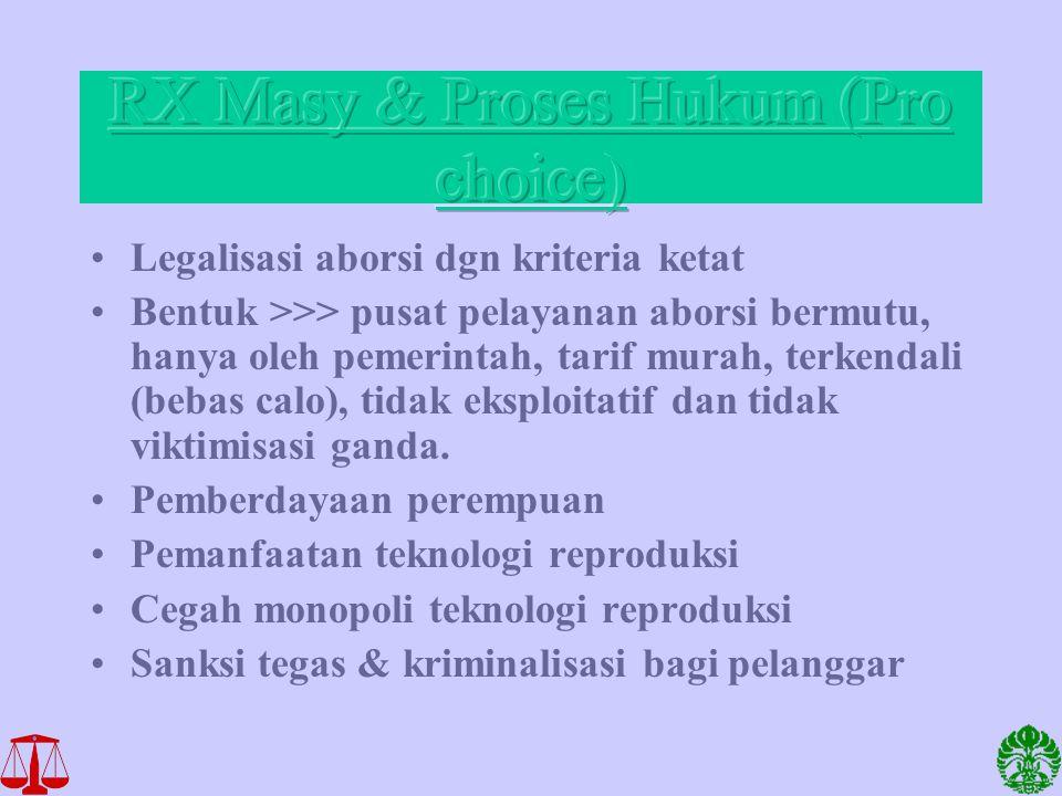 RX Masy & Proses Hukum (Pro choice)