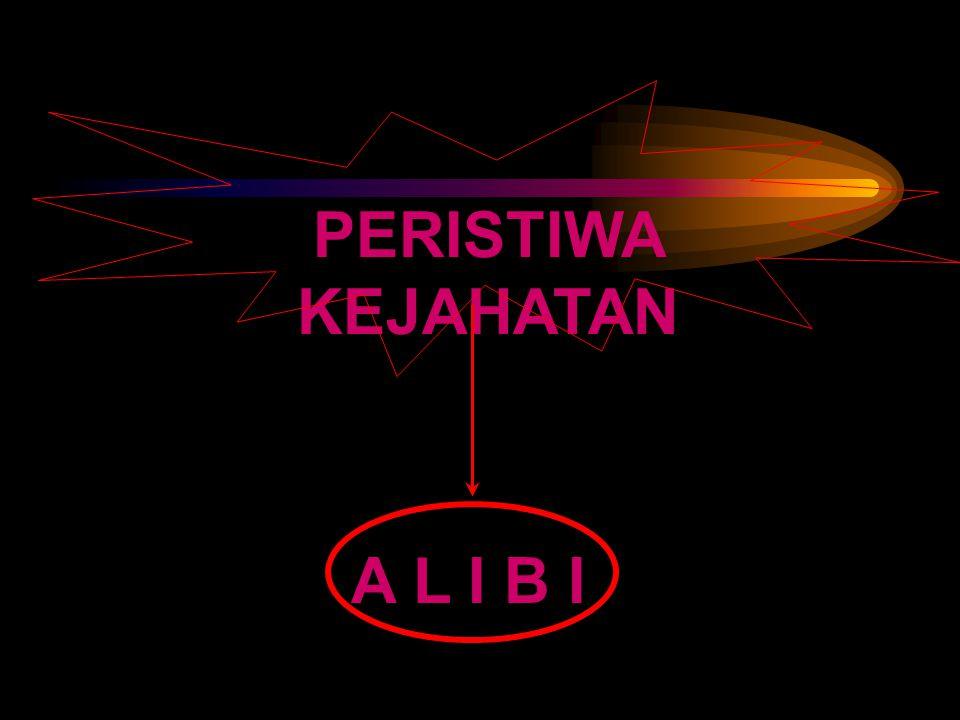 PERISTIWA KEJAHATAN A L I B I