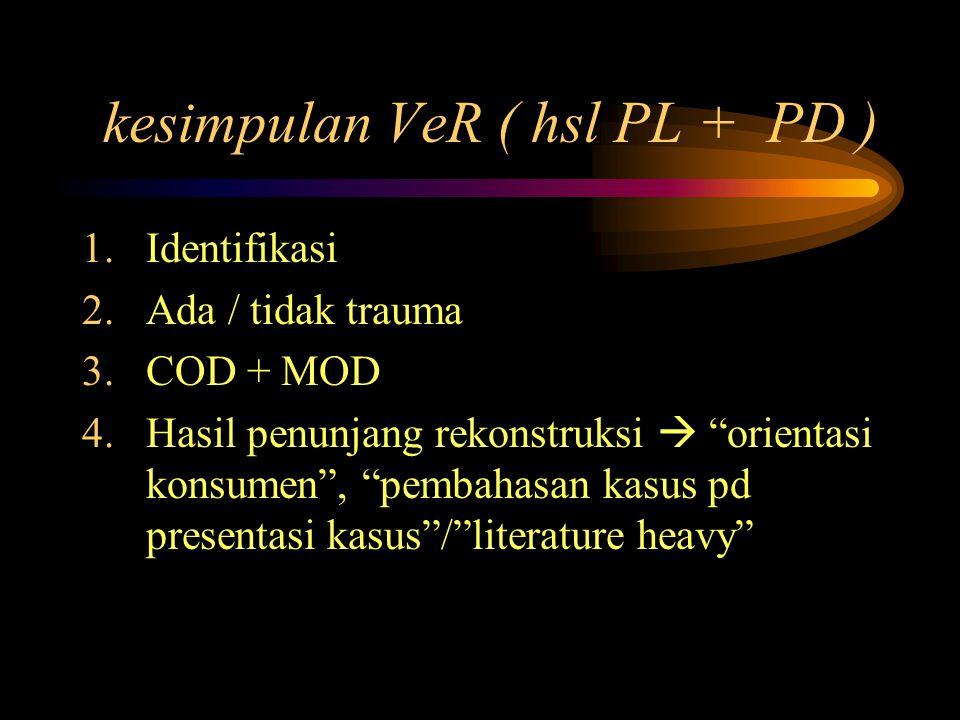 kesimpulan VeR ( hsl PL + PD )