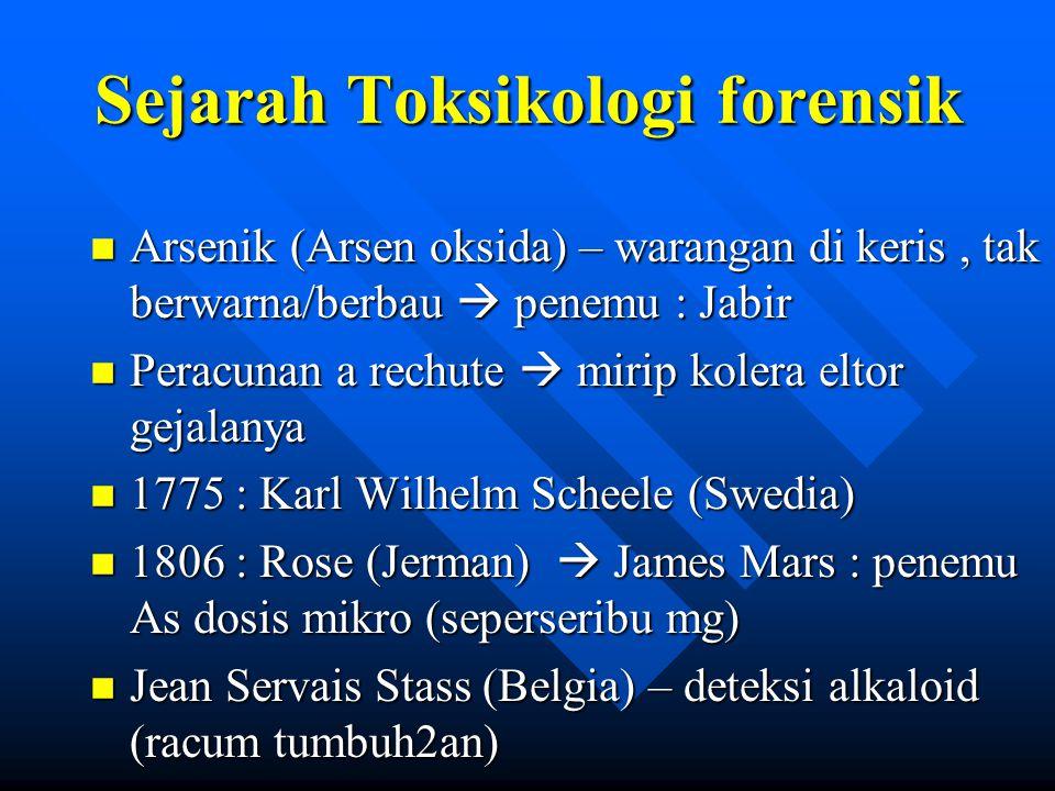 Sejarah Toksikologi forensik