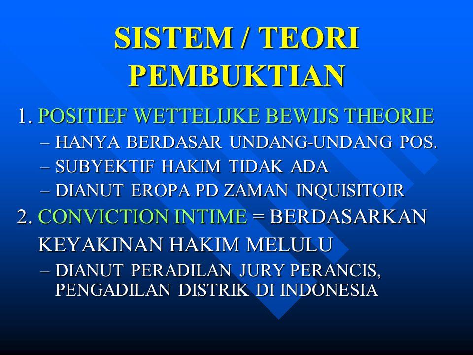 SISTEM / TEORI PEMBUKTIAN