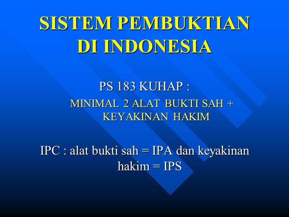 SISTEM PEMBUKTIAN DI INDONESIA