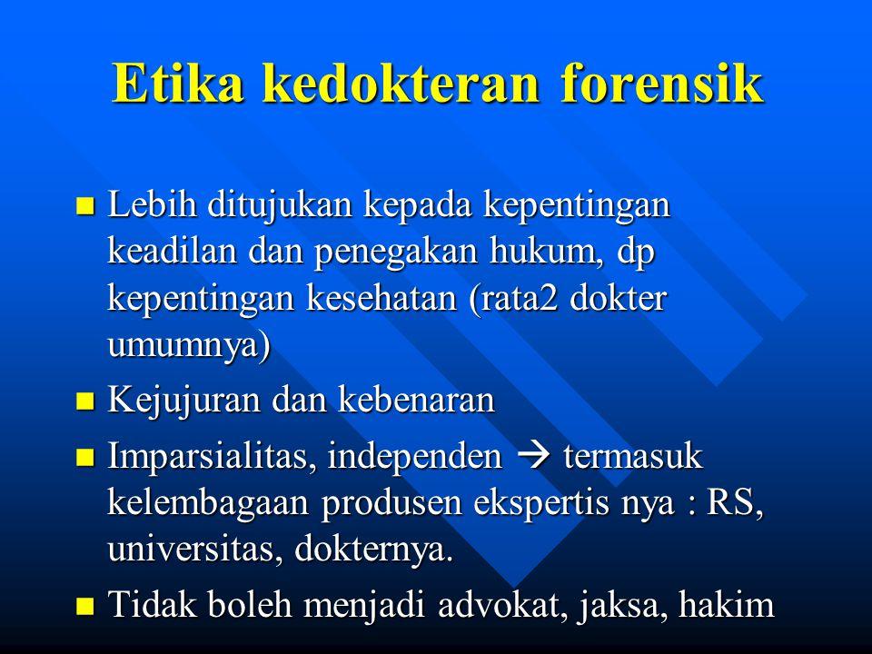 Etika kedokteran forensik