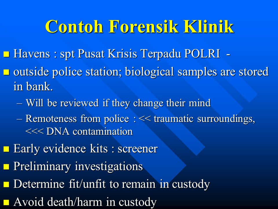 Contoh Forensik Klinik