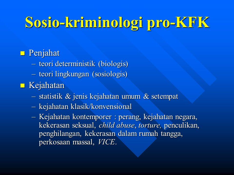 Sosio-kriminologi pro-KFK