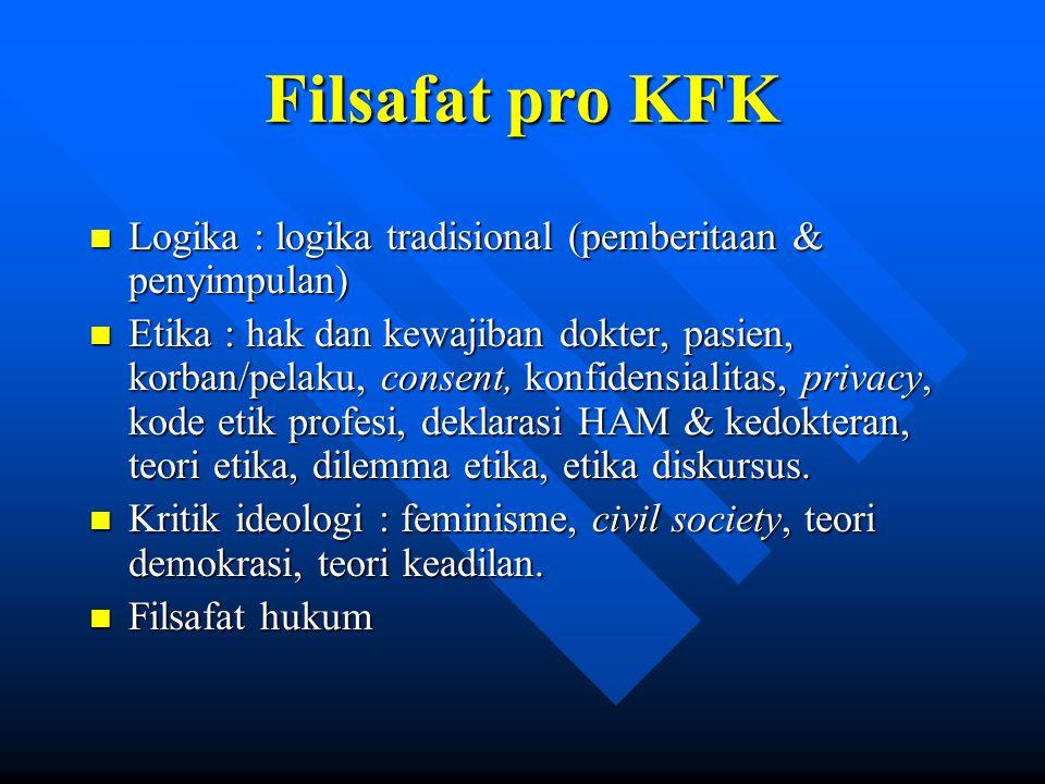 Filsafat pro KFK Logika : logika tradisional (pemberitaan & penyimpulan)