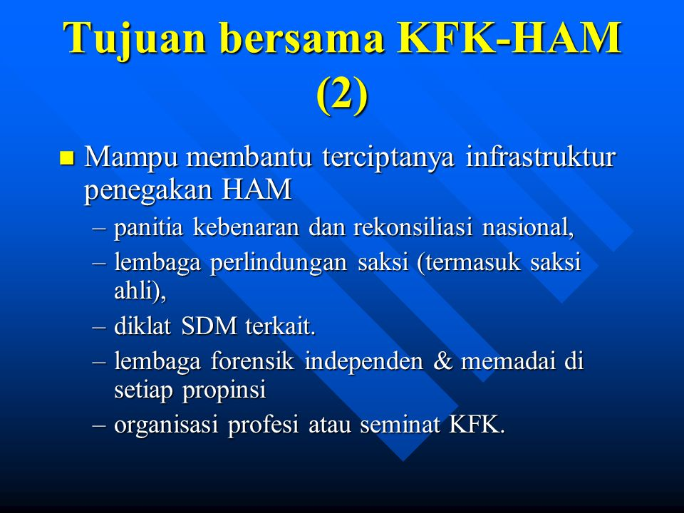Tujuan bersama KFK-HAM (2)