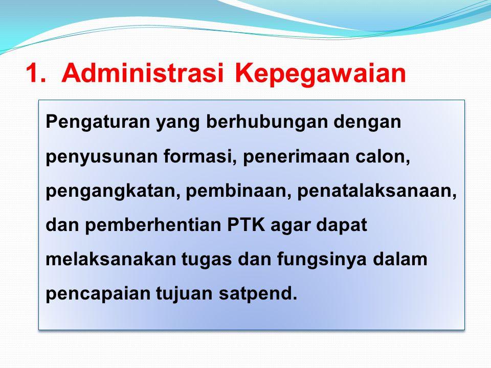 1. Administrasi Kepegawaian