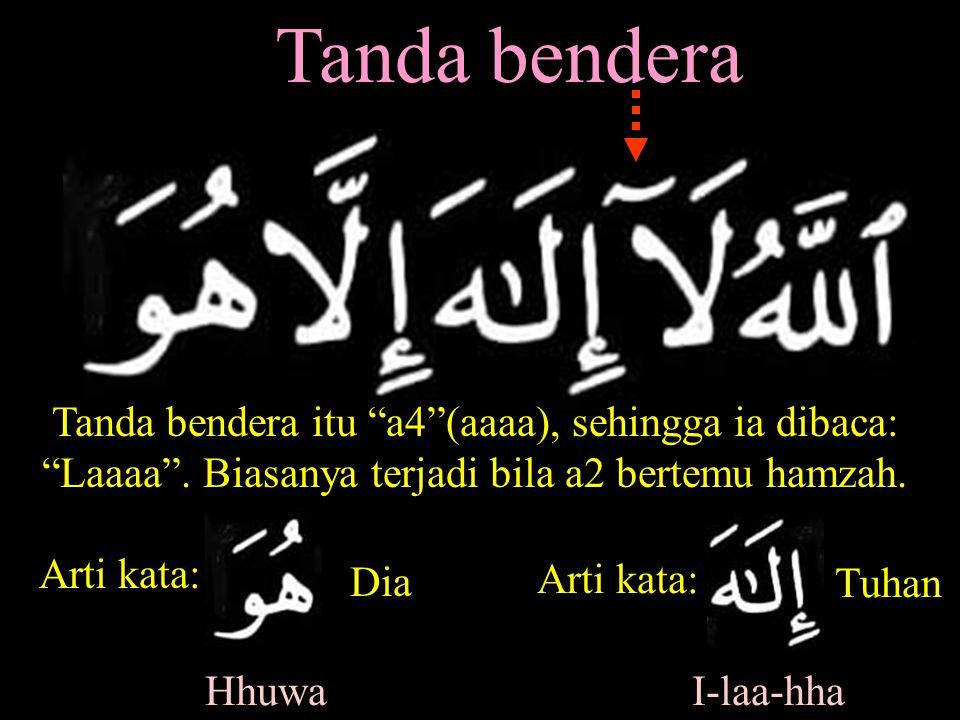 Tanda bendera Tanda bendera itu a4 (aaaa), sehingga ia dibaca: