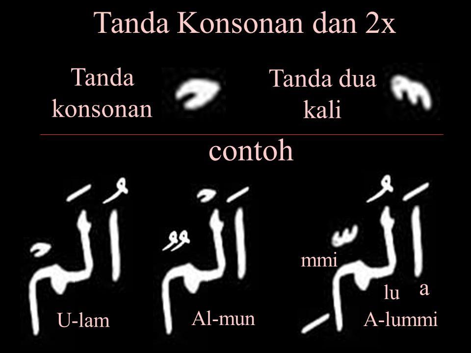 Tanda Konsonan dan 2x contoh Tanda konsonan Tanda dua kali a mmi lu